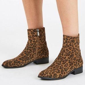 leopard print boots topshop